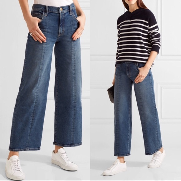 Current/Elliott Denim - Current/Elliott Jeans The Wide Leg Crop Reese